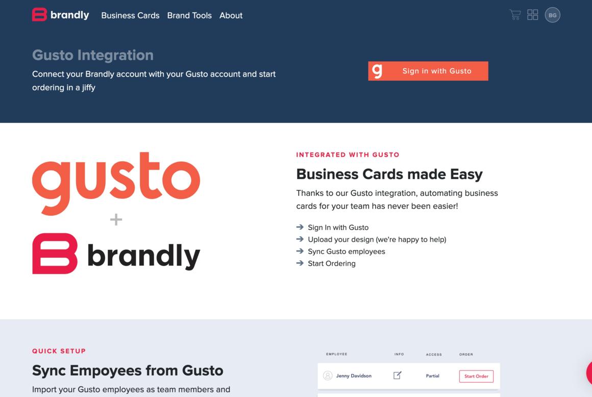 Gusto + Brandly